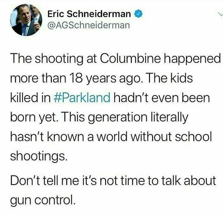 A generation of more guns and more guns and no one is any safer.