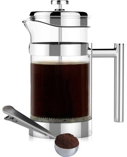Simple Modern French Press Coffee & Tea Maker - 1 Liter - Double Filter - Bonus Coffee Spoon (1 Liter) - Best Coffee Press Pot with Stainless Steel & Heat Resistant Glass, 2016 Amazon Hot New Releases Coffee, Tea & Espresso  #Kitchen