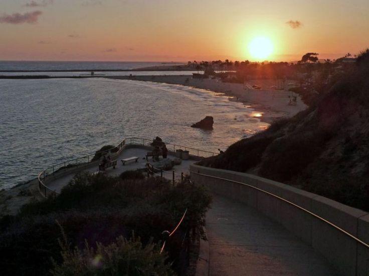 Sunset in Corna Del Mar, California| Picfari.com