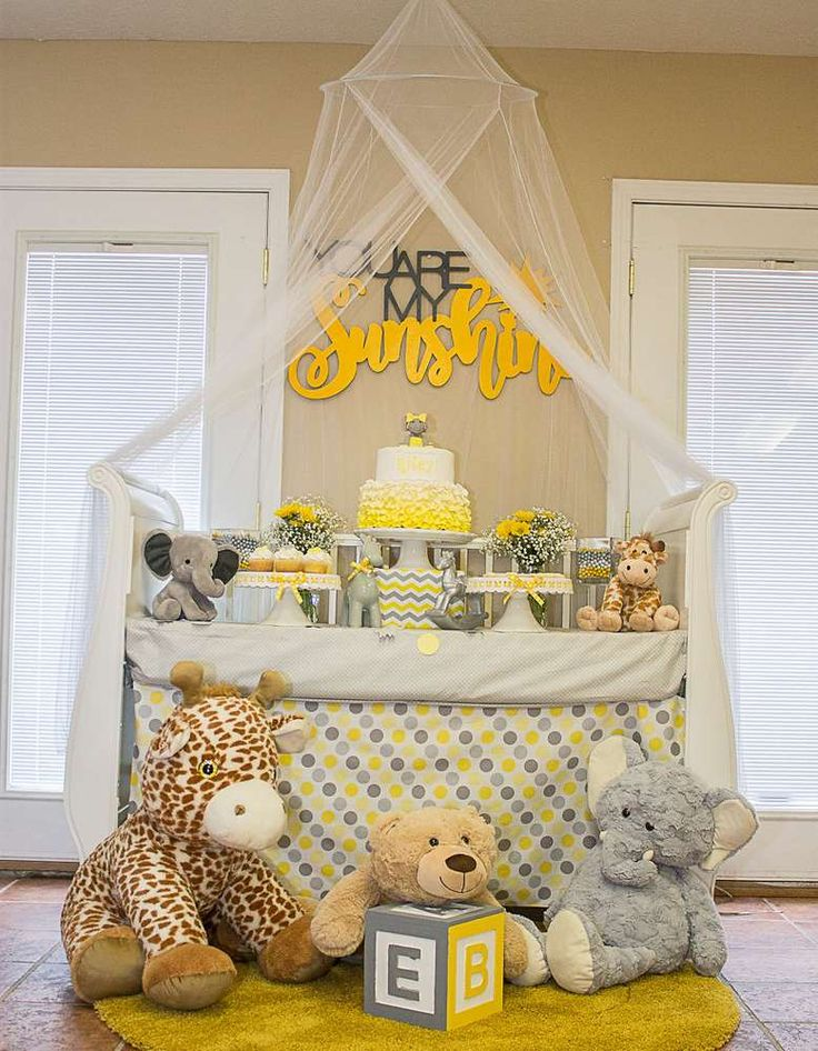 Beautiful You Are My Sunshine Baby Shower Party Ideas