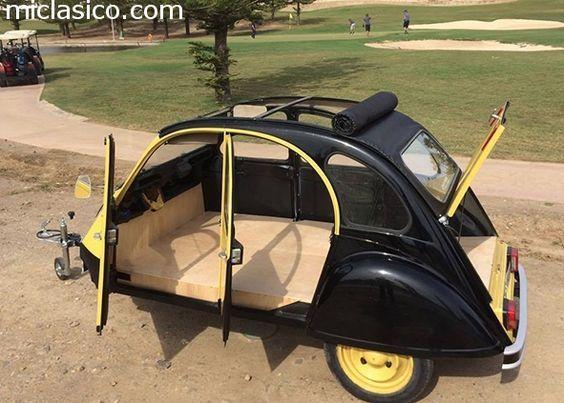 Caravana - - REMOLQUE-CARAVANA. Es un Citroen 2cv original. Está homologado. Interior de madera .