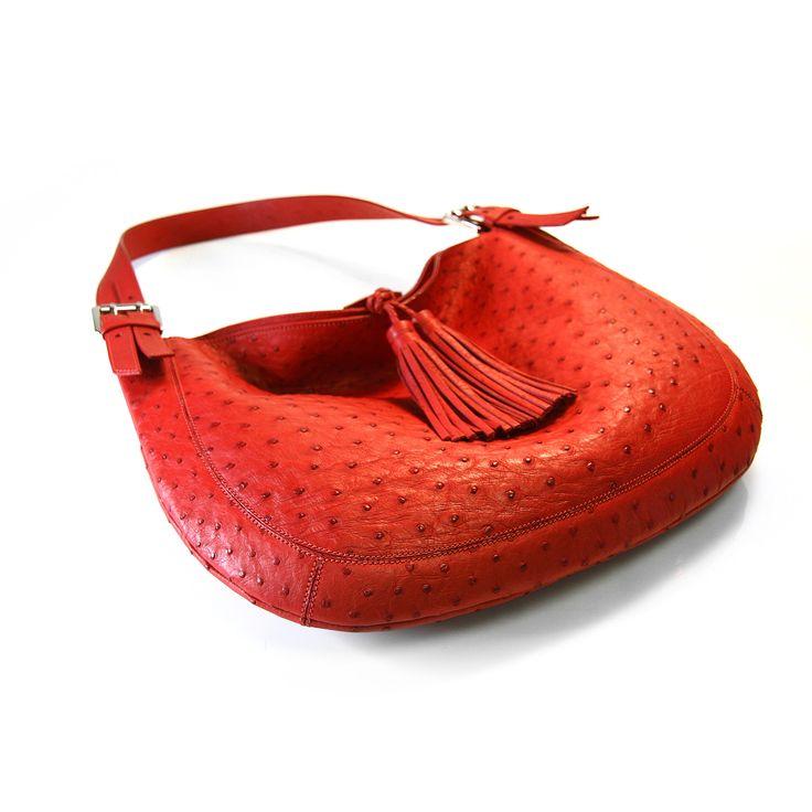 genuine ostrich Via La Moda handbag