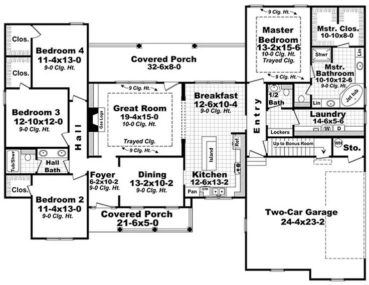 southern style house plan 4 beds 25 baths 2272 sqft plan 21