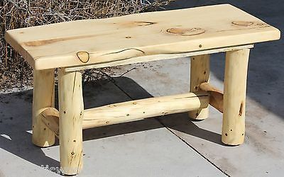 Rustic Log Bench - Cabin, Lodge, Country Log Furniture - Free Shipping – The Rustic Woodshop