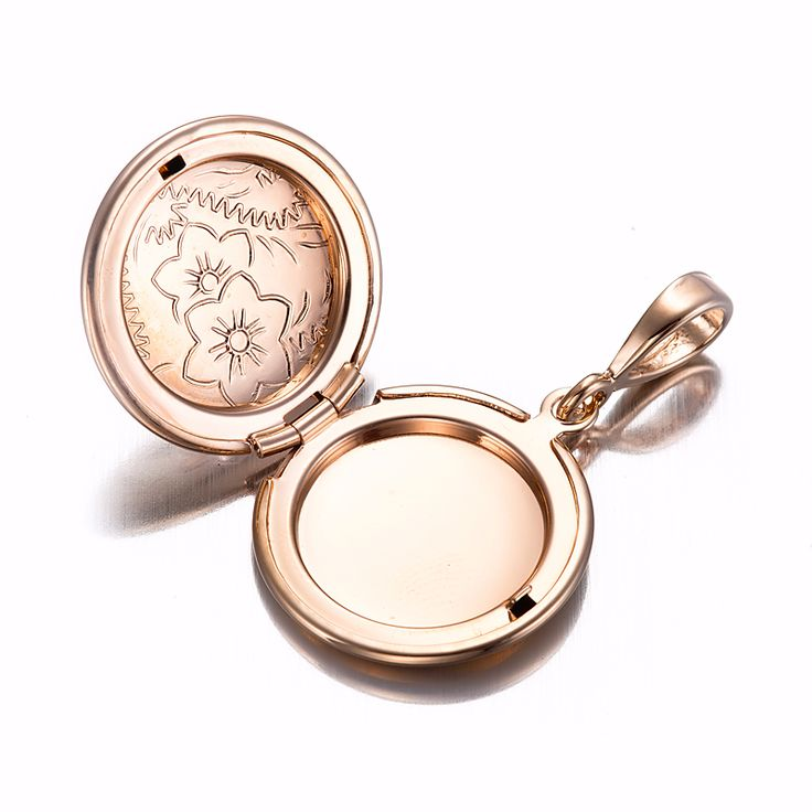 18ct Rose Gold Layered Round Locket Pendant | Allure Gold