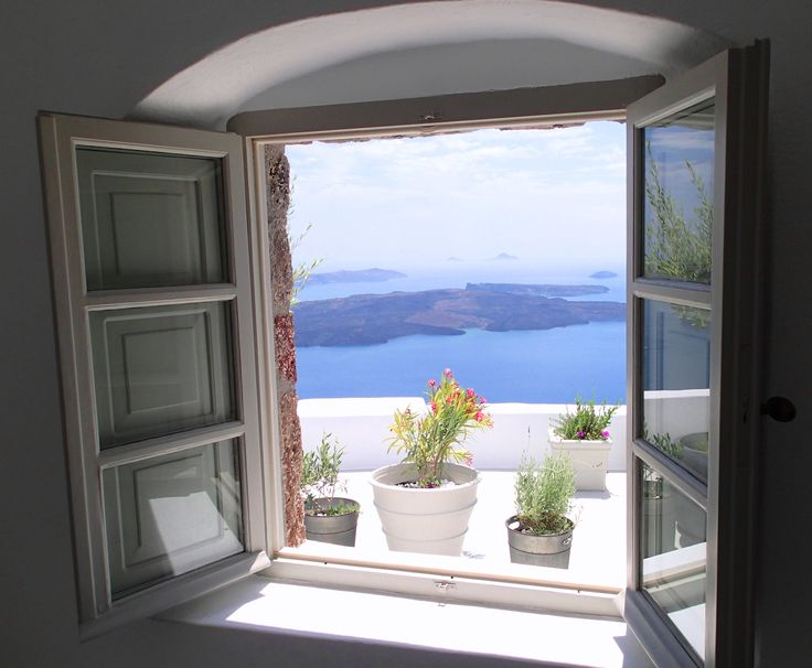 Stunning caldera views from all rooms and suites...