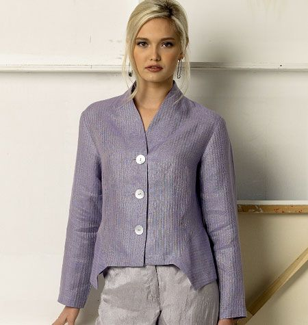 Marcy Tilton  pattern vogue 8982. Loose fitting unlined jacket/shirt or vest. Options for knit or woven fabric.