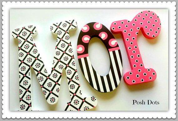 Cartas adolescentes Letras de madera letras infantiles sala