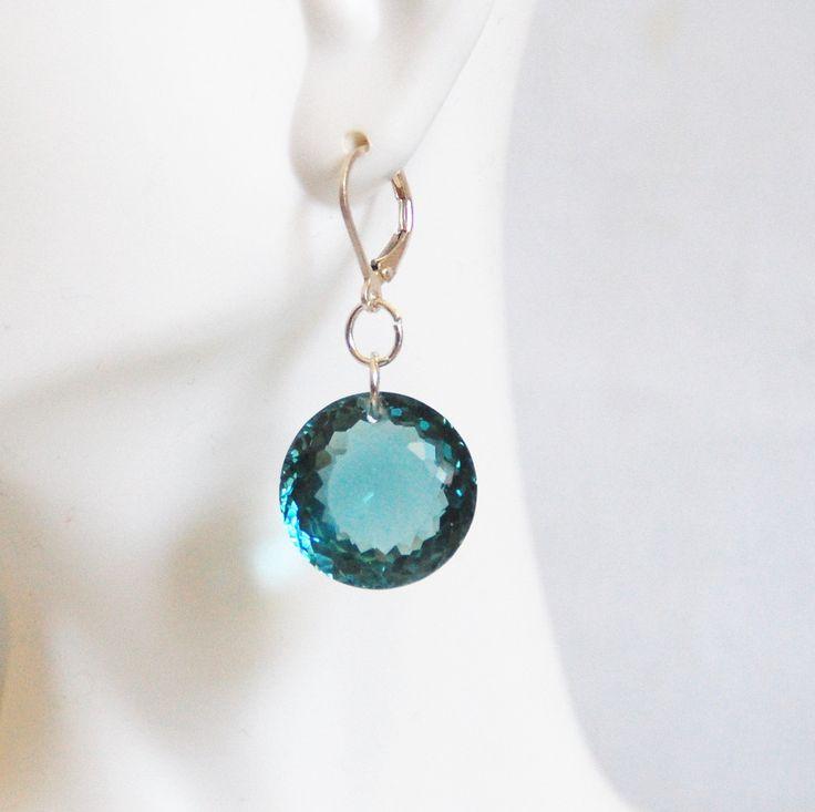 Huge  41.5 ct. London Blue Topaz Dangle Drop Earrings- Fine Jewelry-Wedding Jewelry- Bridal Jewelry -Bridal Accessories- Mother's Day by ferozasjewelry on Etsy
