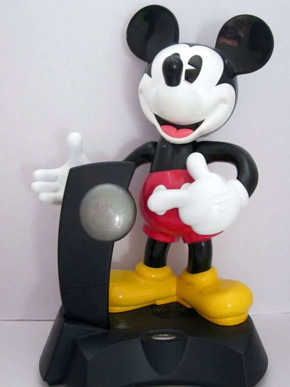 Mickey Mouse Phone Cordless Telephone Animated By
