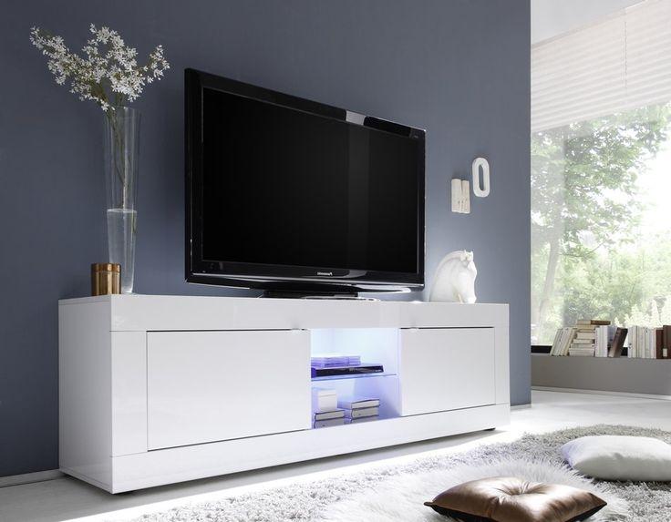 Les Meilleures Idées De La Catégorie Meuble Télévision Blanc - Meuble tv blanc laque pas cher pour idees de deco de cuisine