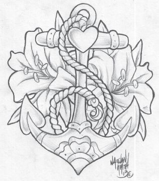anchor tattoo drawing - Pesquisa Google