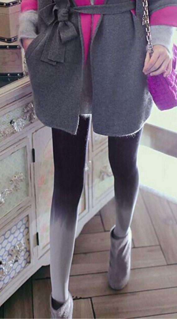 Charming Grey Pantyhose - xome - 1