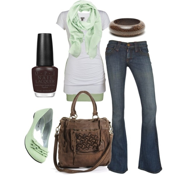 """""""mint chocolate chip"""" by htotheb on Polyvore"""