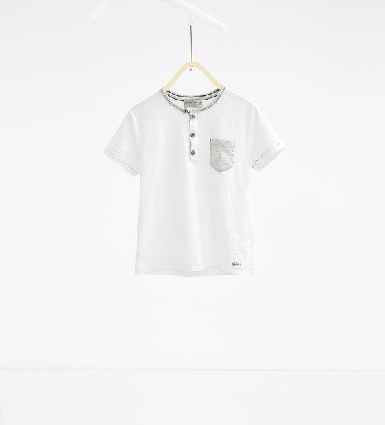 ZARA - KIDS - Contrasting collar T-shirt