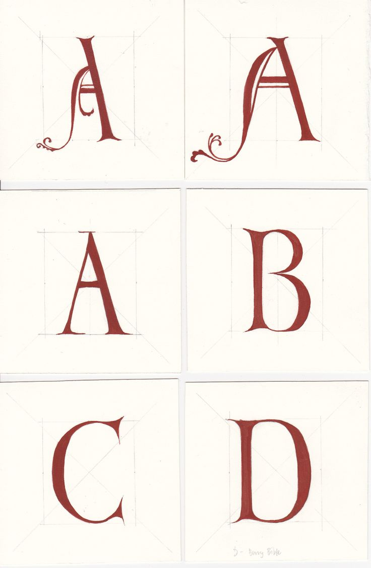 lettering based on bury bible