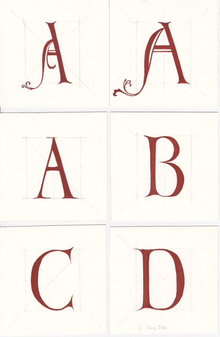 lettering based on bury bible
