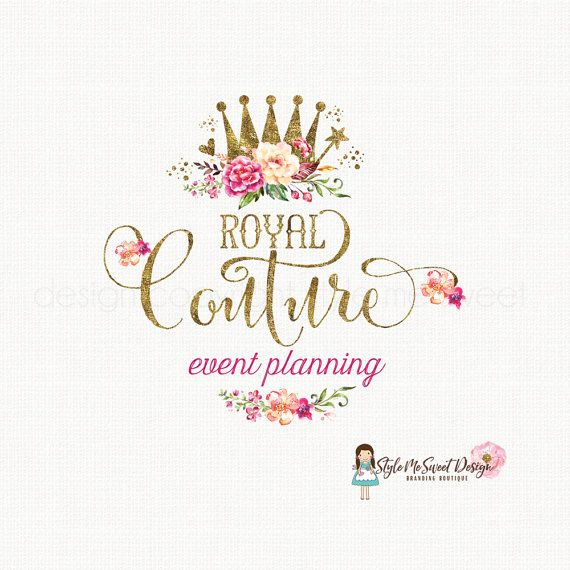 crown logo design princess logo design queen by stylemesweetdesign