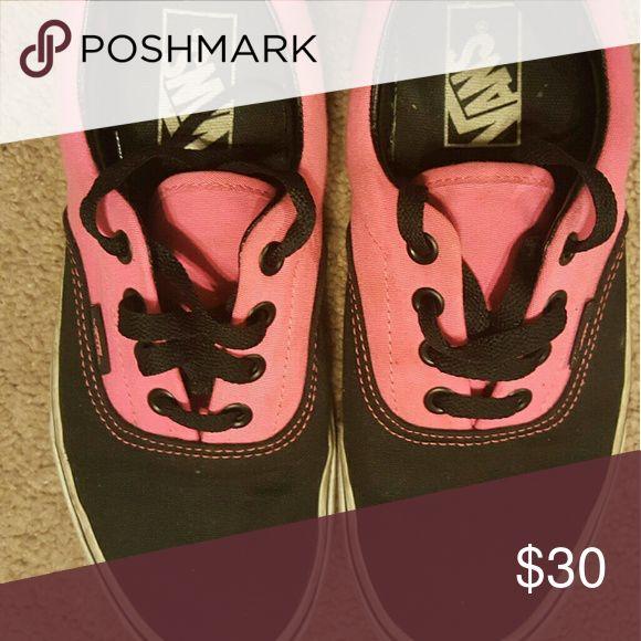 Vans tennis Shoes 5 1/2 pink and Black Vans Shoes Sneakers
