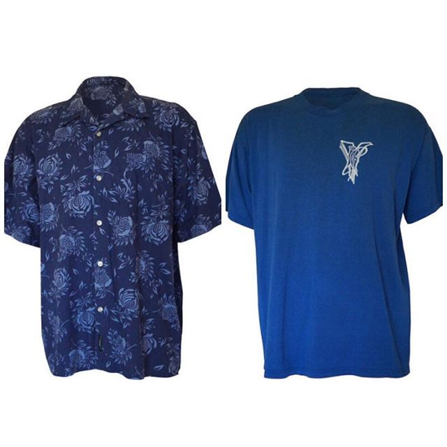 Vintage Style: New listings for the fellas. The Blue Hawaiian button up and Vice Graphic tee. Available now, to shop link in bio. #newlisting #retromensclothing #retrotee #hawaiianshirt
