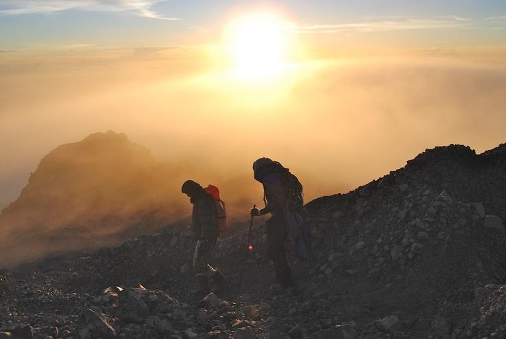 View from the summit of Mount RinjaniMount Rinjani