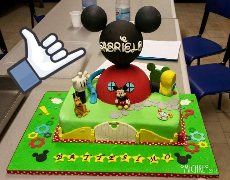 torta casa di topolino