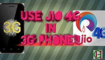 3G phone me jio 4G internet kaise use kare?