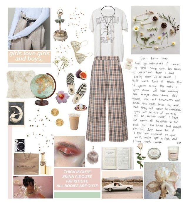 """✧ si amarte es exigirte, no te quiero.  ✧"" by rosalataieck ❤ liked on Polyvore featuring A by Amara, H&H, Brandy Melville, Isa Arfen, Forever 21, Vanessa Mooney, Narciso Rodriguez, Vans, Louis Vuitton and Fuji"