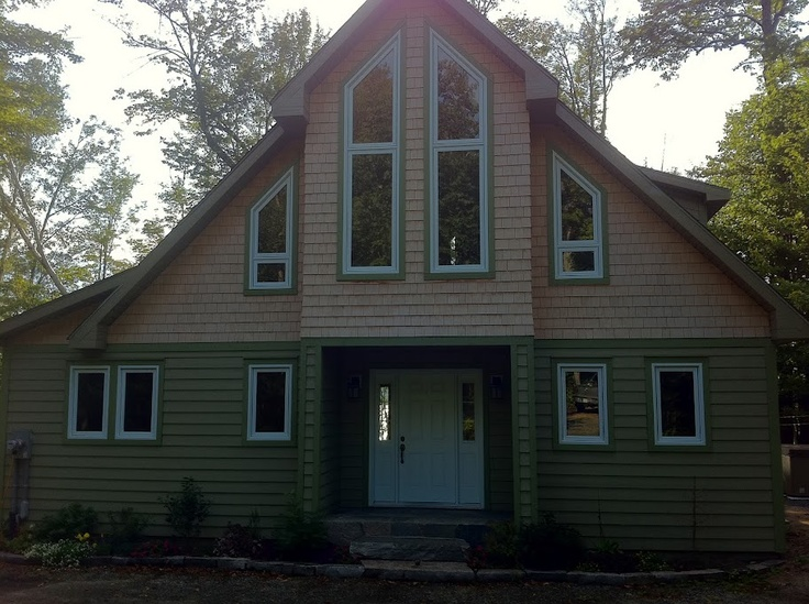 Cedar Shake Siding And Maibec Wood Siding With Tone On