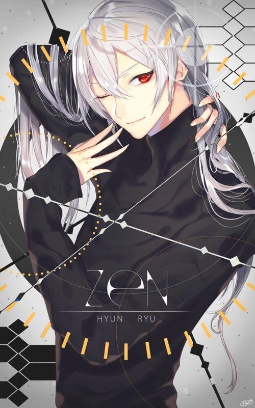 Mystic Messenger- Zen (Ryu Hyun) #Otome #Game #Anime. Susanghan Messenger