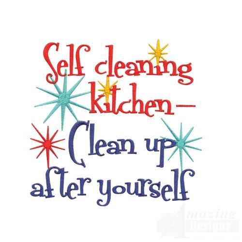 People Cleaning Kitchen: Self Cleaning Kitchen