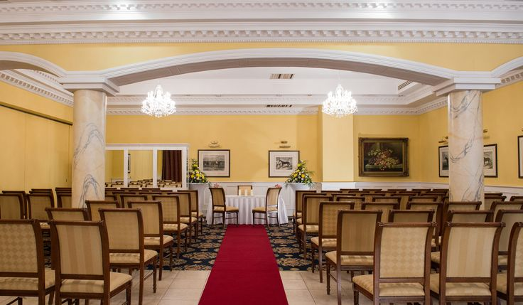 Elegant civil ceremony setting at the wonderful Dromhall Hotel, Killarney