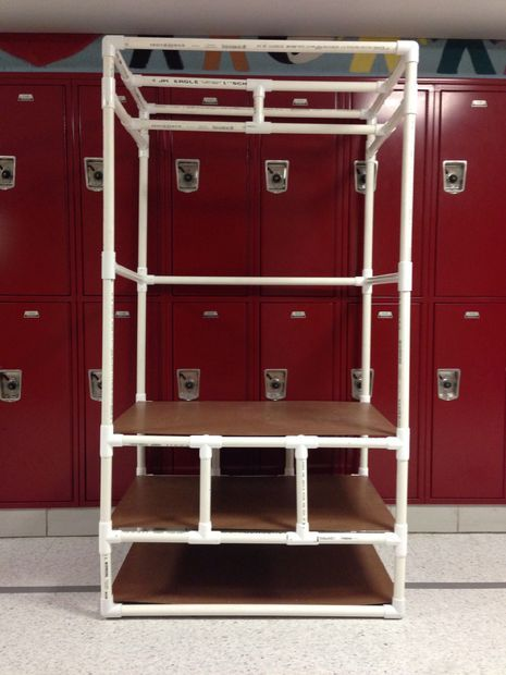 Picture of How to Make a Closet Organizer Out of PVC - This is a perfectly cheap way to make one of those expensive closet organizers.