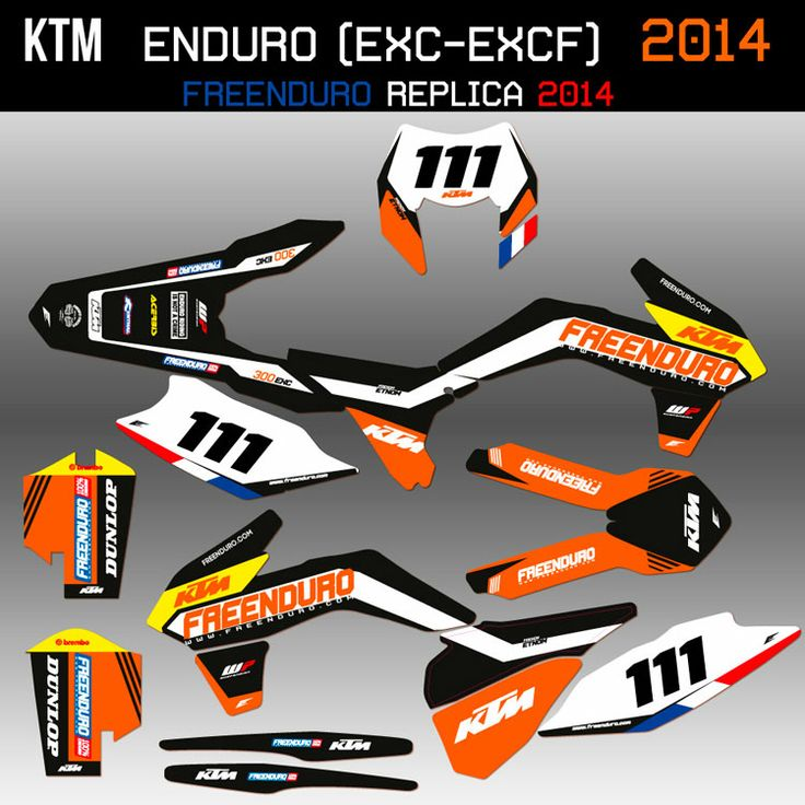 ktm freenduro graphic kit 2014 http www eight racing fr kit deco ktm exc 1406 kit deco