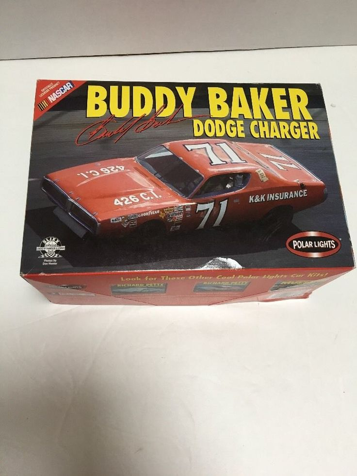 Buddy Baker Dodge Charger Nascar racecar plastic model kit 1:25 scale | Toys & Hobbies, Models & Kits, Automotive | eBay!