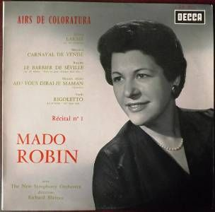RECITAL MADO ROBIN (Récital n° 1) Airs de Coloratura  avec The New Symphony Orchestra direction : Richard Blareau