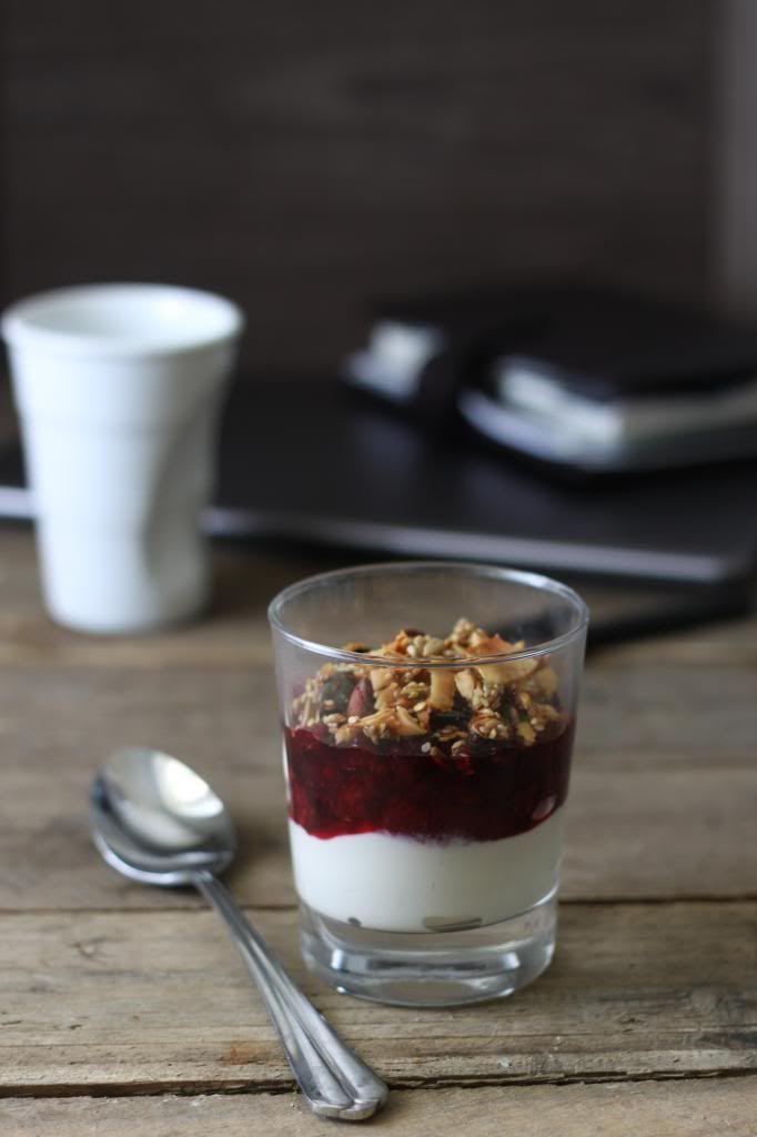 raspberry & blackcurrant compote /