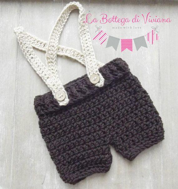 Crochet Newborn Shorts/Newborn Pants with by LaBottegaDiViviana