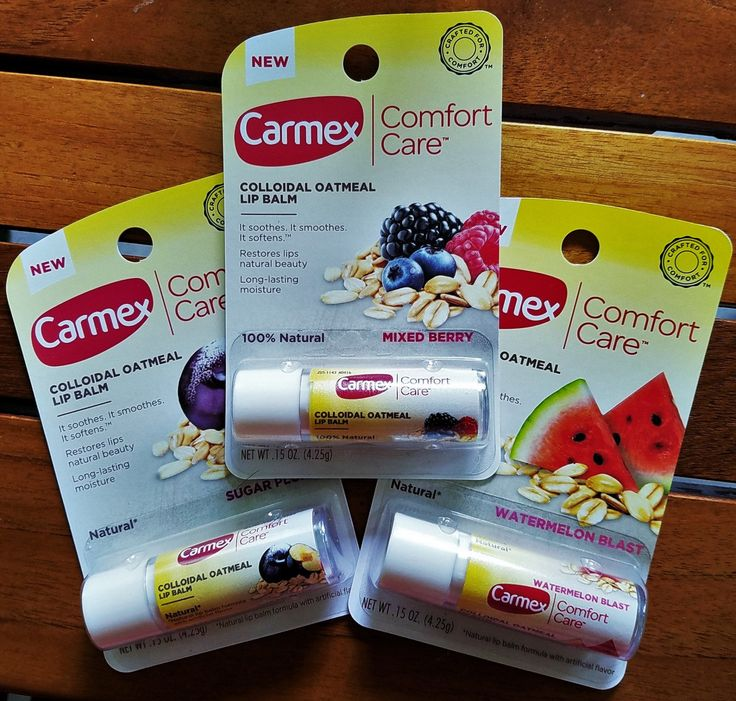 These lip balms from Carmex are all natural, but that's not all that is unusual about them. Read more: http://www.advicesisters.com/skincare/carmex-comfort-care-colloidal-oatmeal-lip-balm