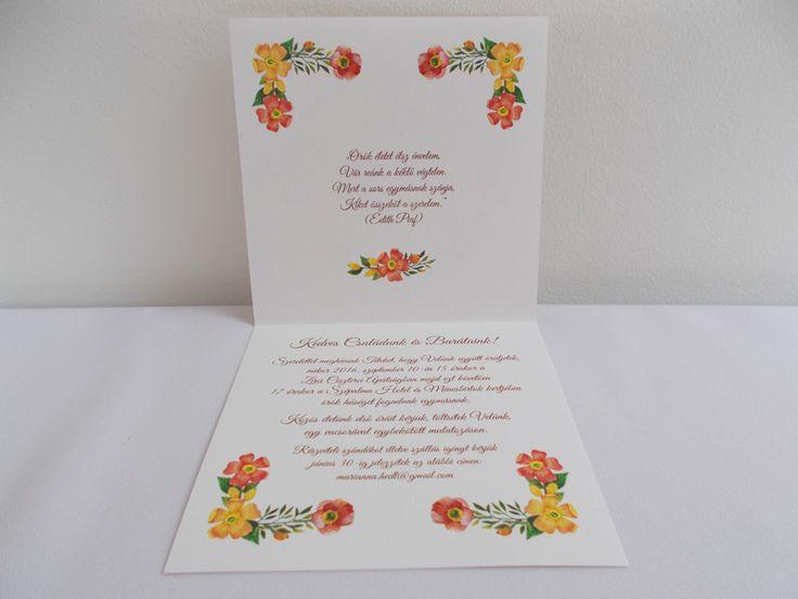 vintage esküvői meghívó 07.2