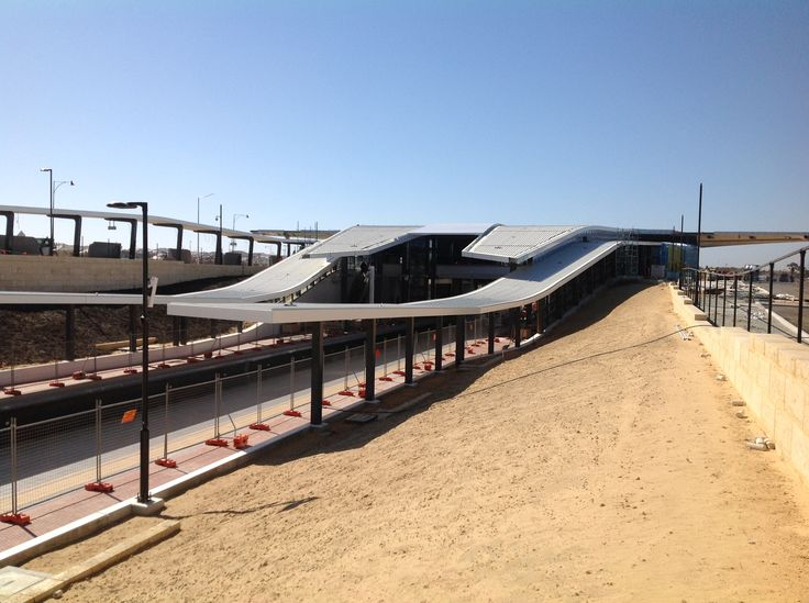 Multi-curve Ritek roof panels in this award winning train station based in Western Australia