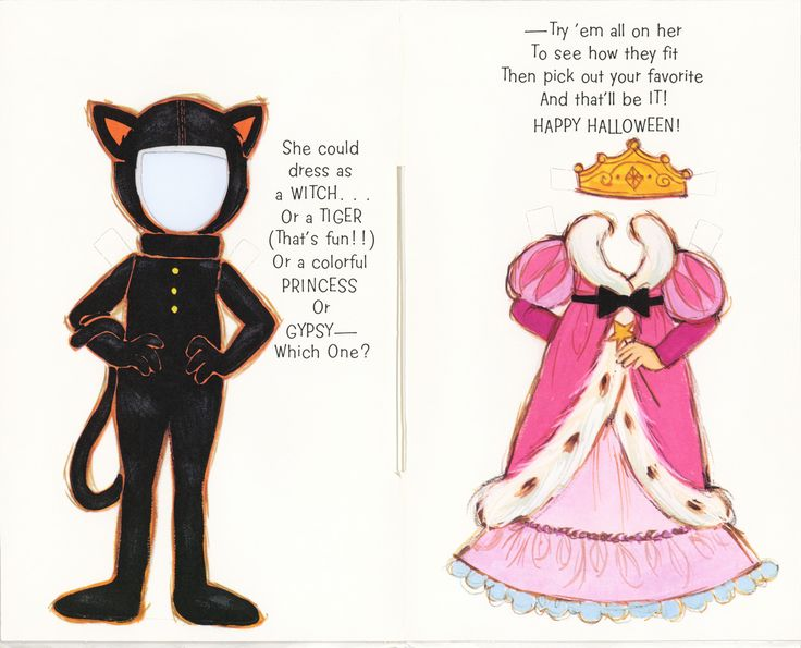 Vintage Halloween Paper Dolls   Google Search