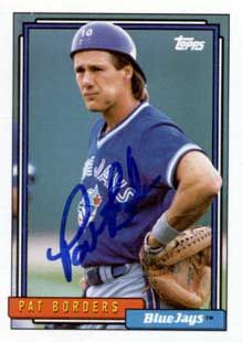 Toronto Blue Jays catcher, Pat Borders
