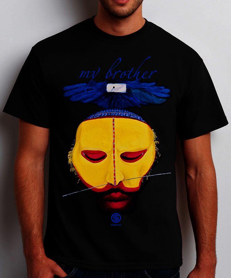 MY Yellow Brother... ***Vladimir Shvayukov's painting, organic cotton, 100%. The digital print.   #sibumi #tshirt #artclothes #gift #style#stylish #fashion #love #design #black #paint #artist #art