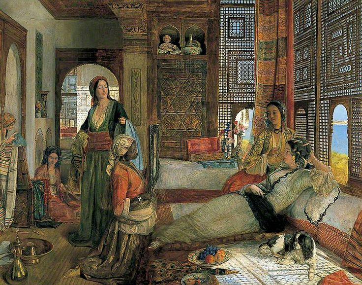 The Harem (Ottoman  Caliphate) -John Frederick Lewis (Painter, 1804-1876 CE British)