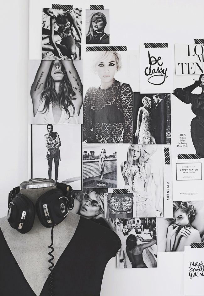 LE FASHION BLOG HOME DECOR INSPIRATION MIJA THE SUPER ORDINARY SWEDISH INTERIOR DESIGN BLOGGER BLACK AND WHITE FASHION RELATED DETAILS FASHION CUT OUT MAGAZINE CLIPPING WALL COLLAGE CHIC FASHION COLLAGE HEAD PHONES MANNEQUIN 6 photo LEFASHIONBLOGHOMEDECORINSPIRATIONMIJATHESUPERORDINARY6.jpg
