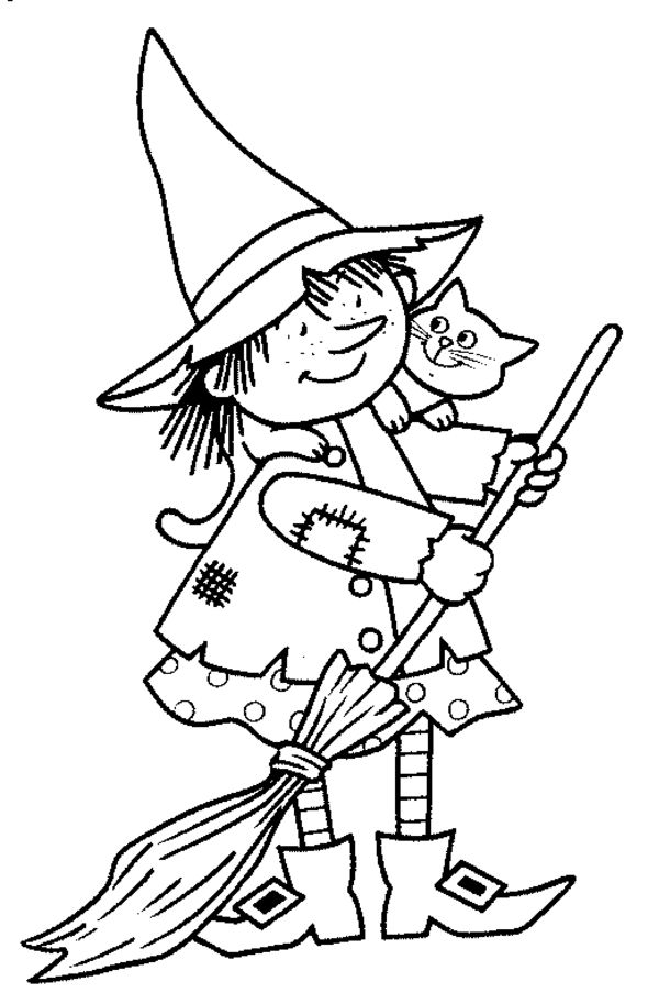 Free Halloween Coloring Pages 2 Witch