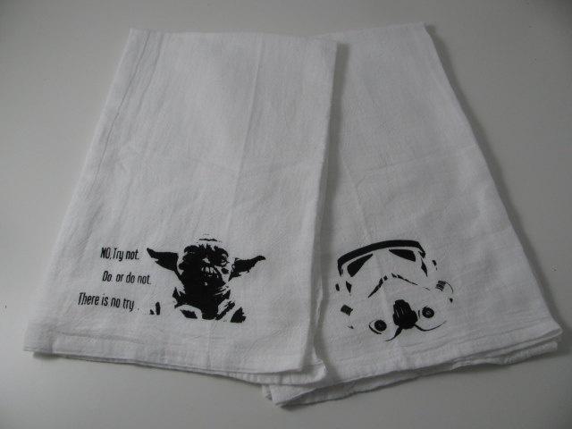 Yoda And Storm Trooper Tea Towels