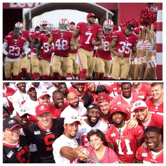 Squad! Sunday Football is back! After watching that Rams/Seahawks game, (Rams win in OT) I'm tooooo excited for tomorrow night! Rooting for our first team win of the season and Jim T's debut as a head coach! Any score predictions? #colinkaepernick #kaepernick7 #49ers #7tormscoming #kaepernick #beatthevikings