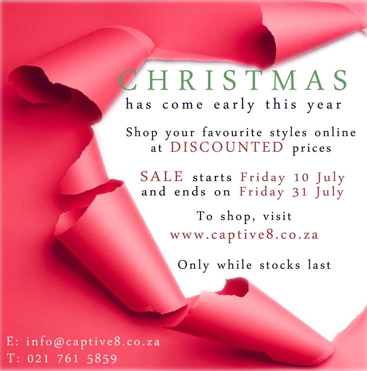 Christmas in July #sale http://www.captive8.co.za/collections/sale